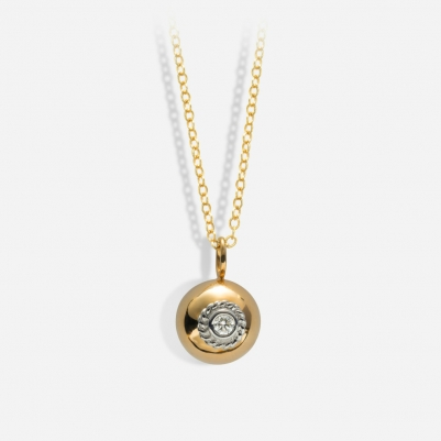 Poppy Necklace in 18k Yellow Gold