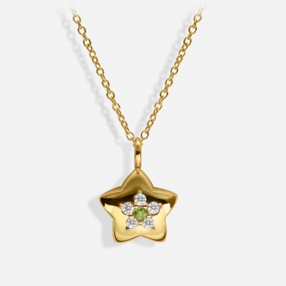 Star in 18k Yellow Gold