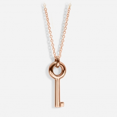 Key Necklace in 18k Rose Gold